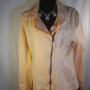 Maurices Motorcycle Jacket Peach Zipper Front XXL